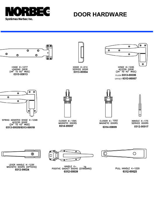 Parts Kason Door Hardware