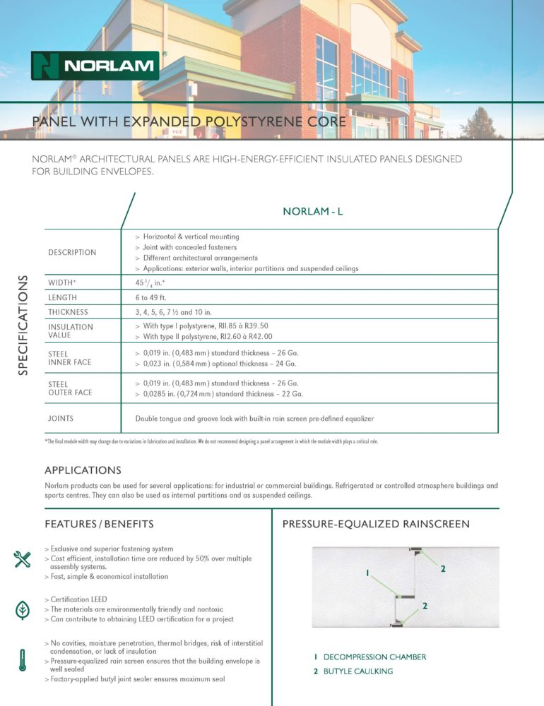 Norlam Technical Sheet Discontinued