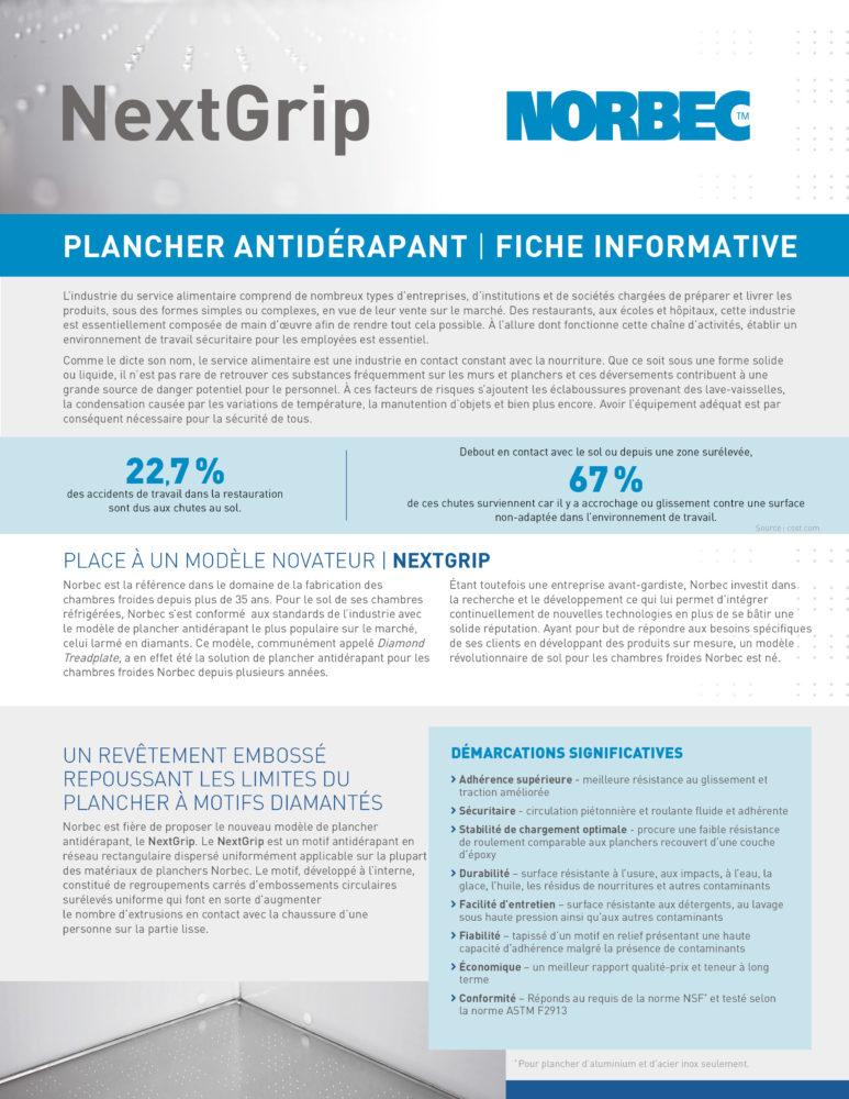 NextGrip Fiche Informative