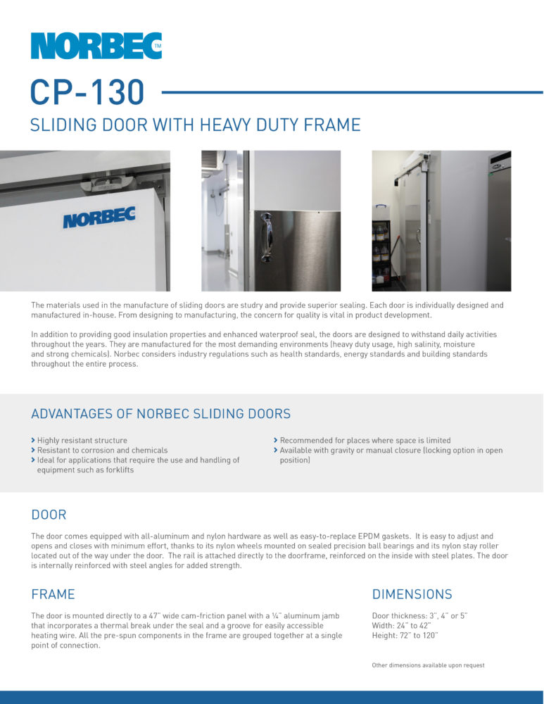 Door Technical Sheet CP-130