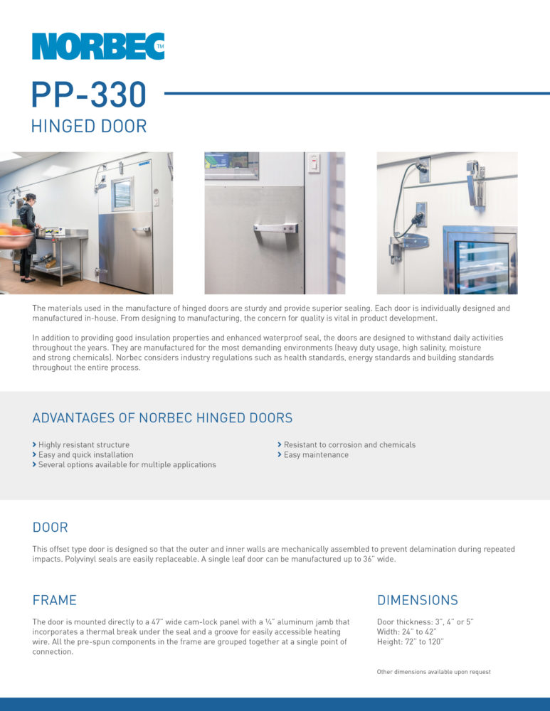 Door Technical Sheet PP-330