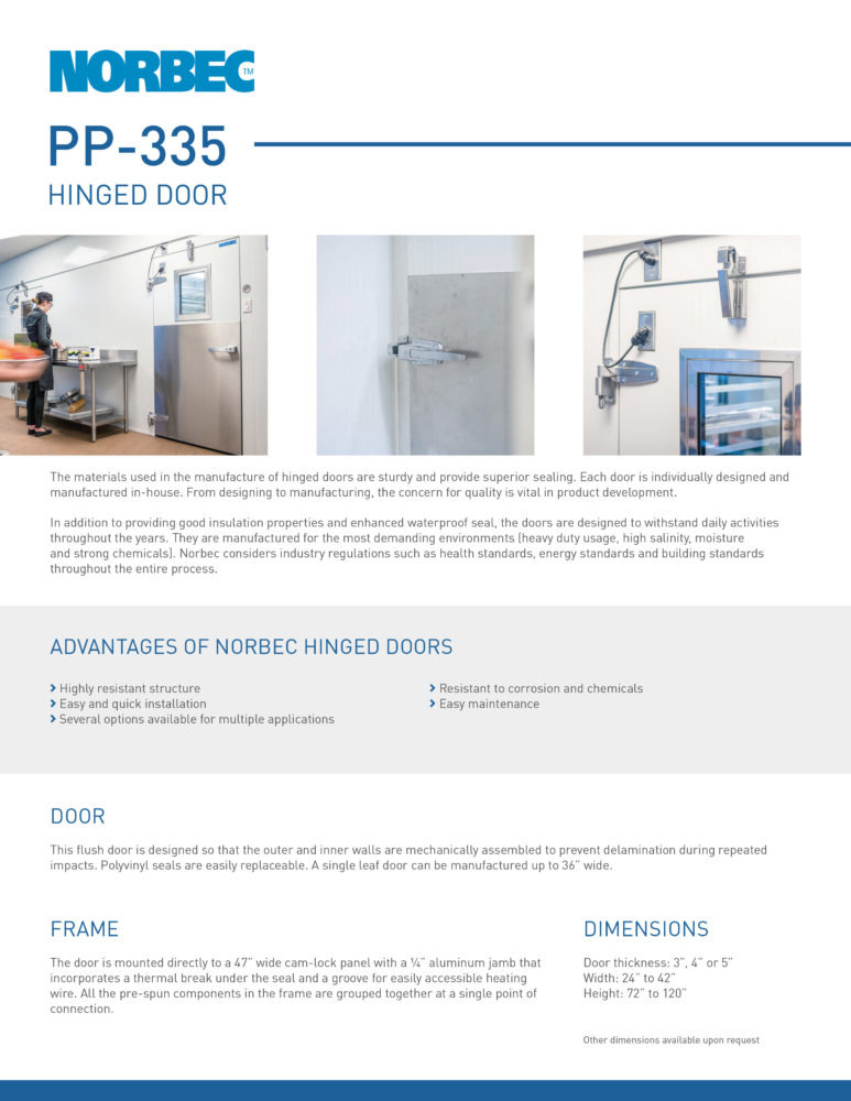 Door Technical Sheet PP-335