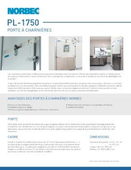 aperçu de la fiche technique porte PL-1750