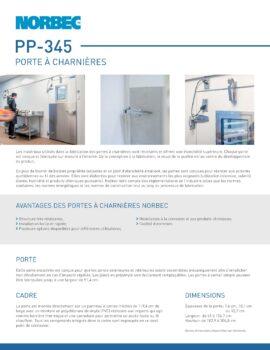 aperçu de la fiche technique porte PP-345