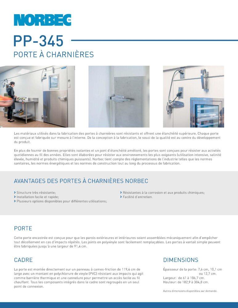 Fiche technique de porte PP-345
