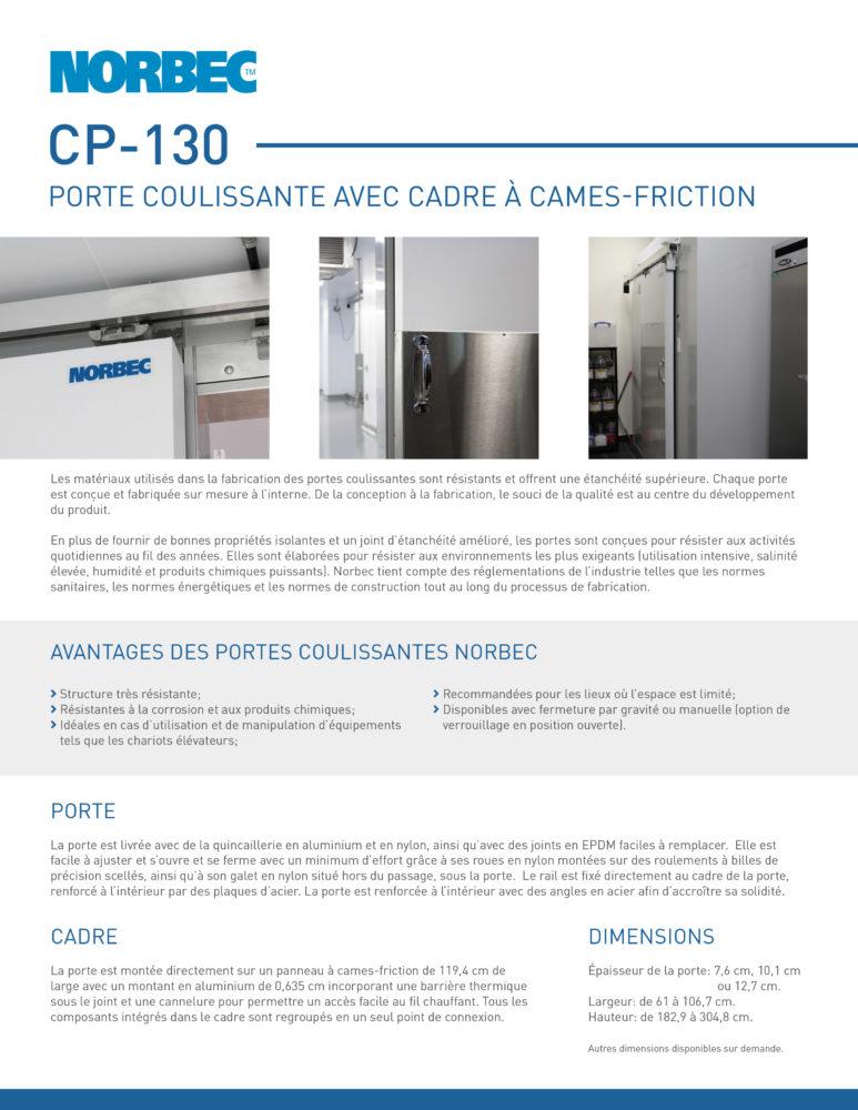 Fiche technique de porte CP-130
