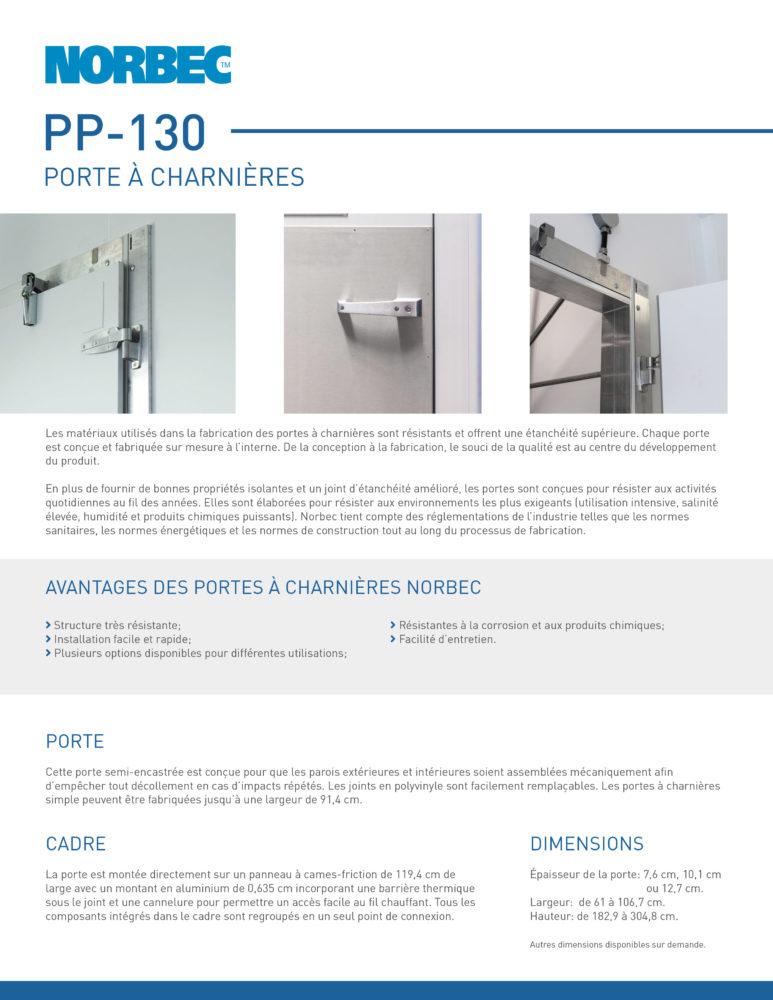 Fiche technique de porte PP-130