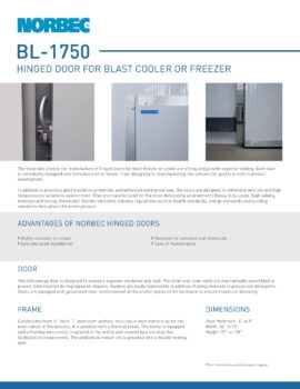 Preview Technical sheet door BL-1750