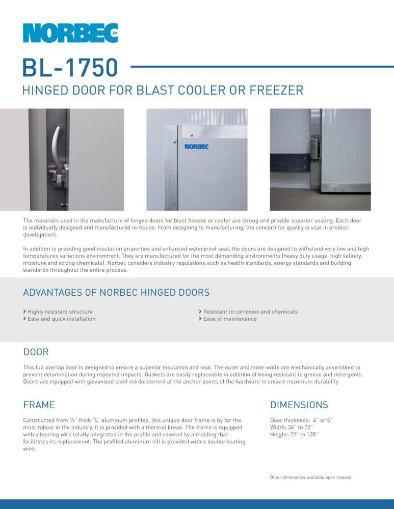Door Technical Sheet BL-1750