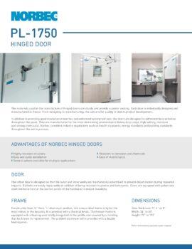 Preview Technical sheet door PL-1750