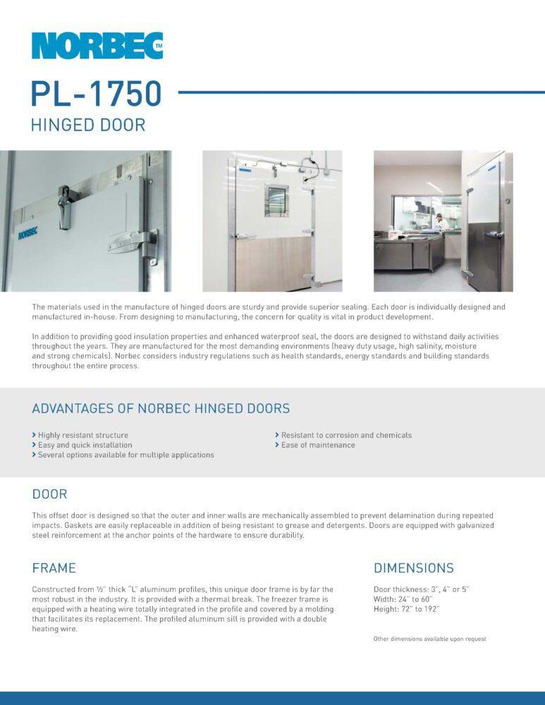 Door Technical Sheet PL-1750
