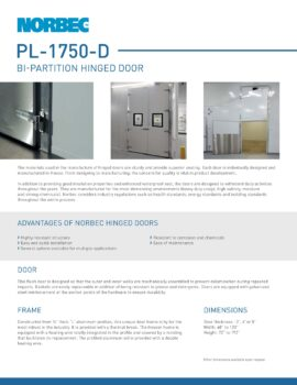 Preview Technical sheet door PL-1750-D
