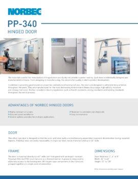 aperçu de la fiche technique porte PP-340