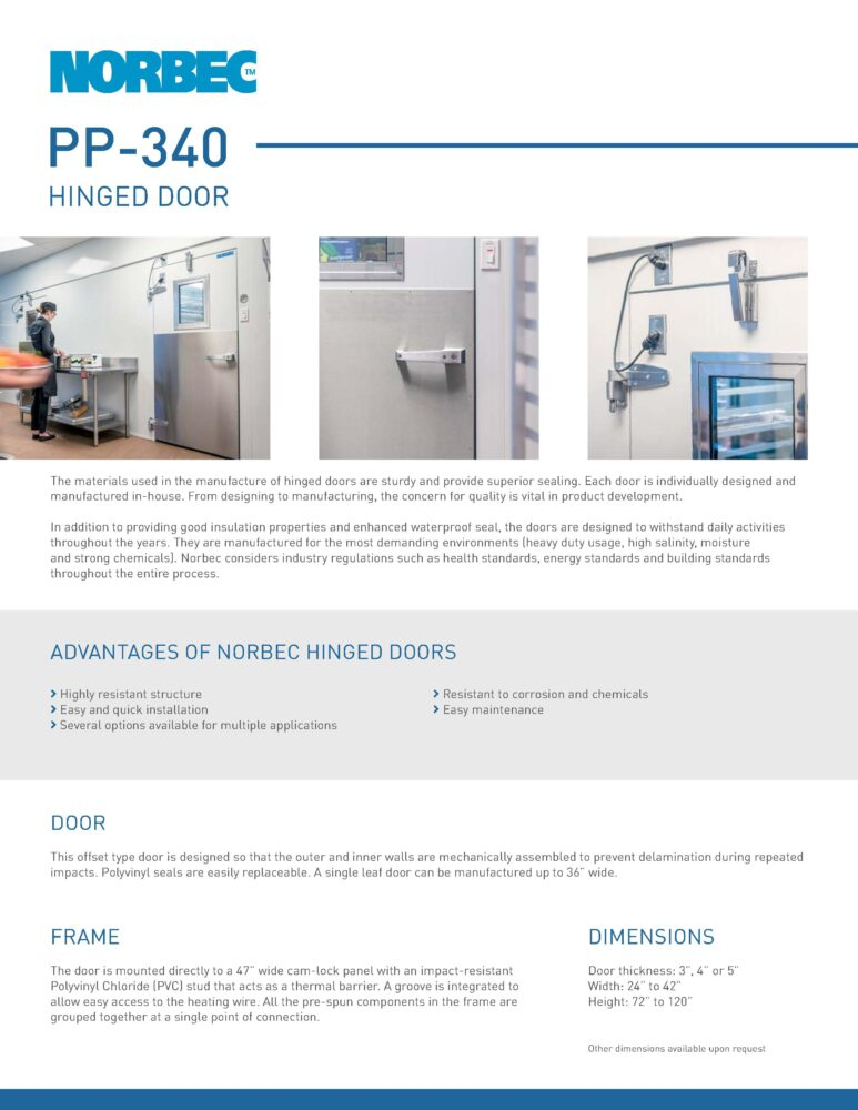 Door Technical Sheet PP-340
