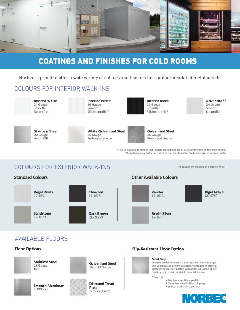 Walk-in – Color Guide