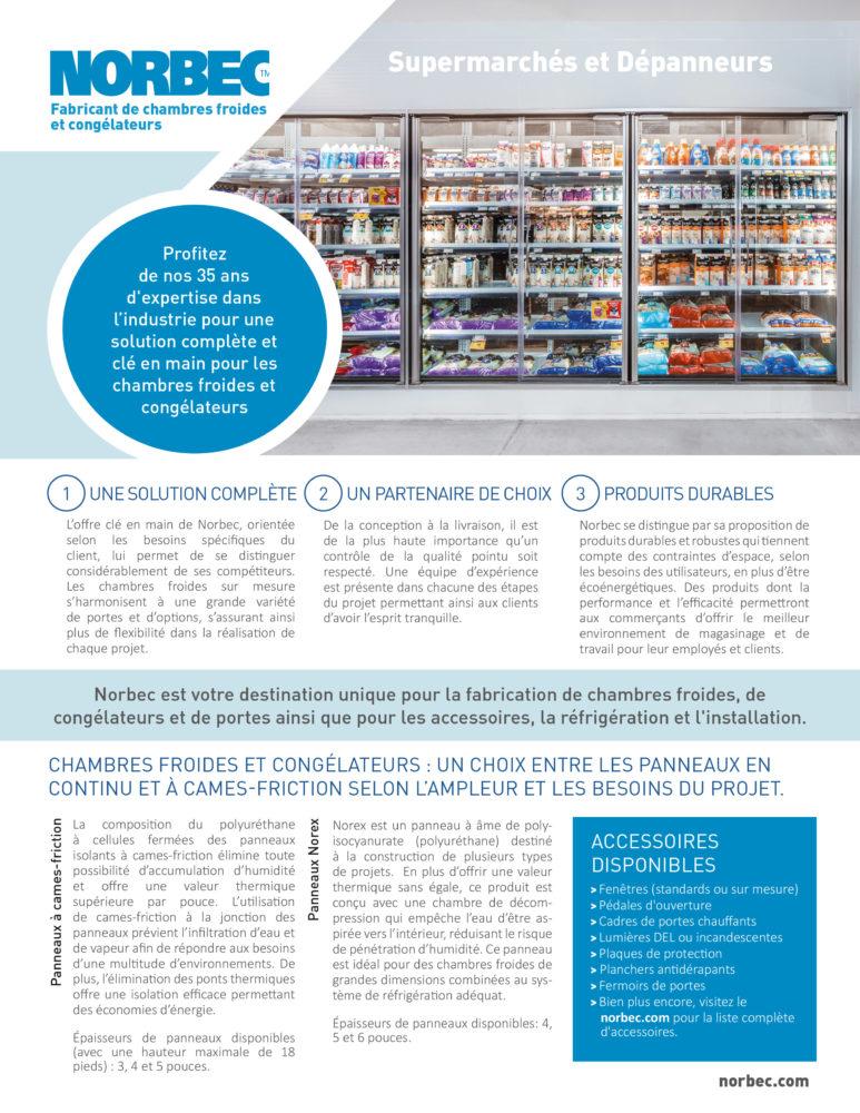 Supermarchés et dépanneurs – Fiche informative
