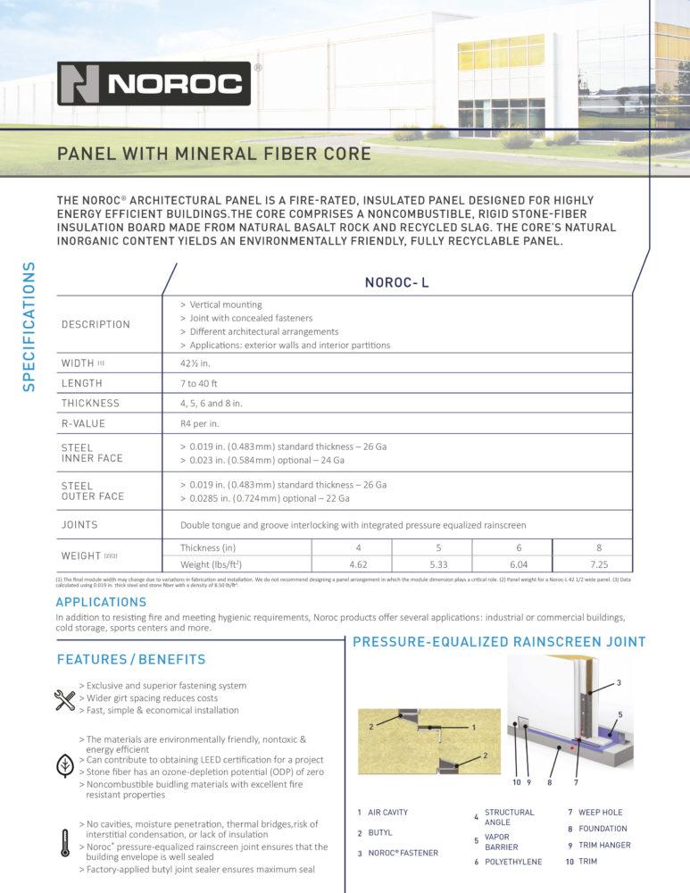 Noroc Technical Sheet