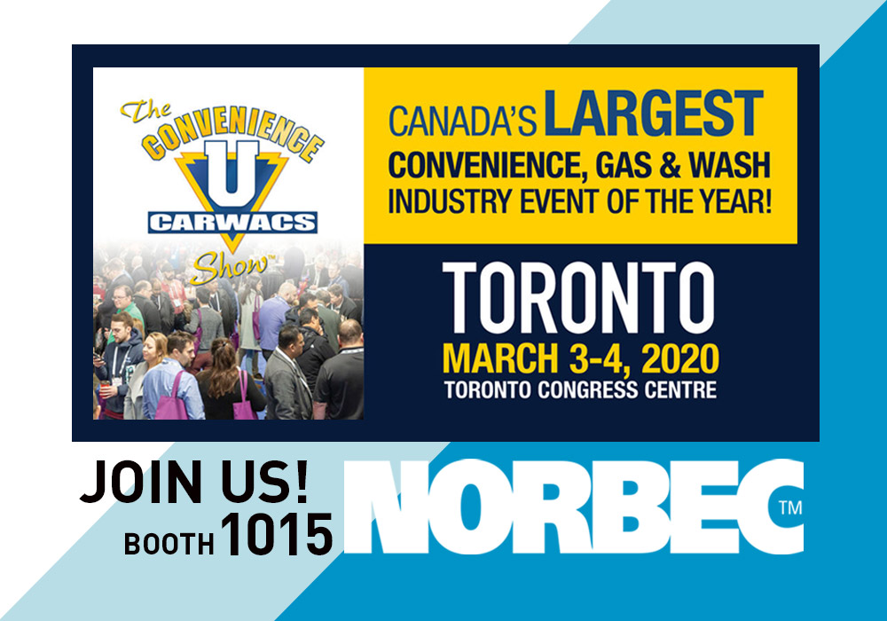announcement norbec at the convenience carwacs show