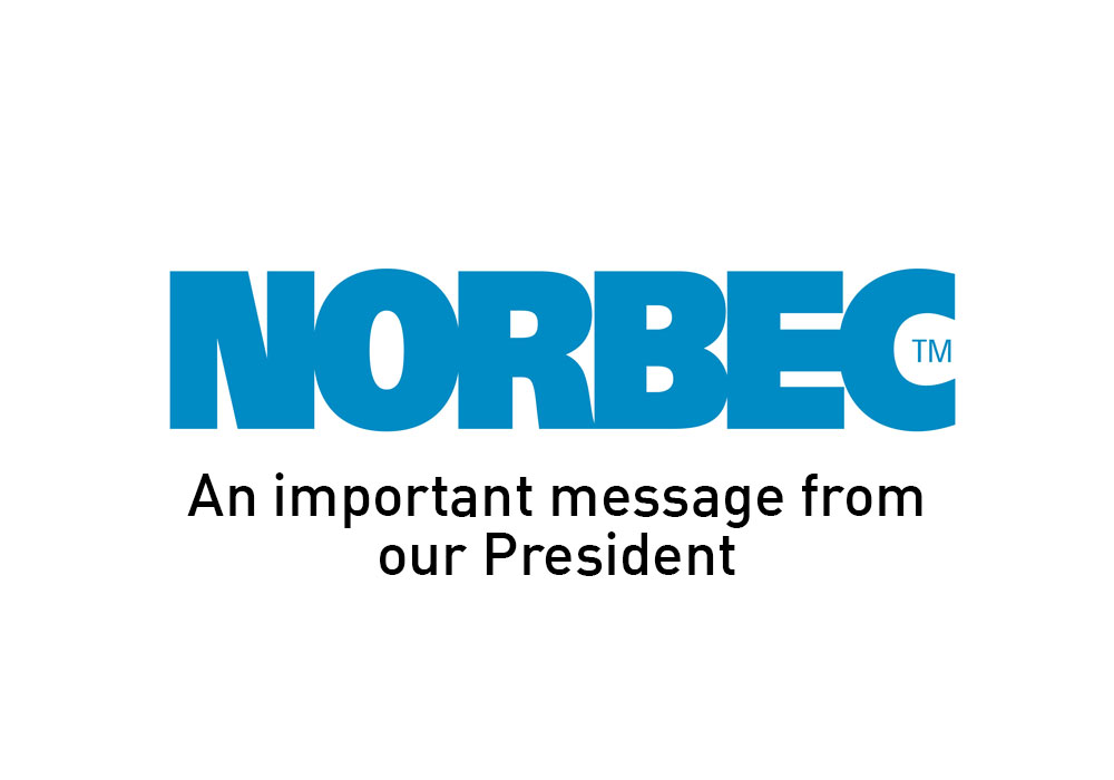 NOrbec logo message announcement