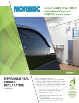 Document about environmental product declaration at Norbec