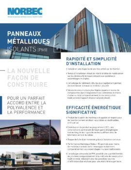 Document des avantages des panneaux metalliques isolants (PMI)