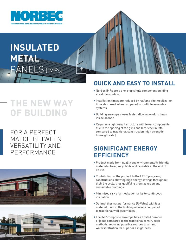 Insulated Metal Panel Benefits – One Pager