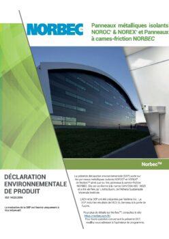 Document à propos de la déclaration environnementale des produits chez Norbec
