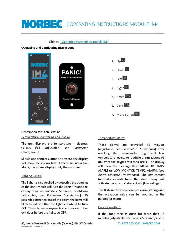 IM4 – Operating Instructions