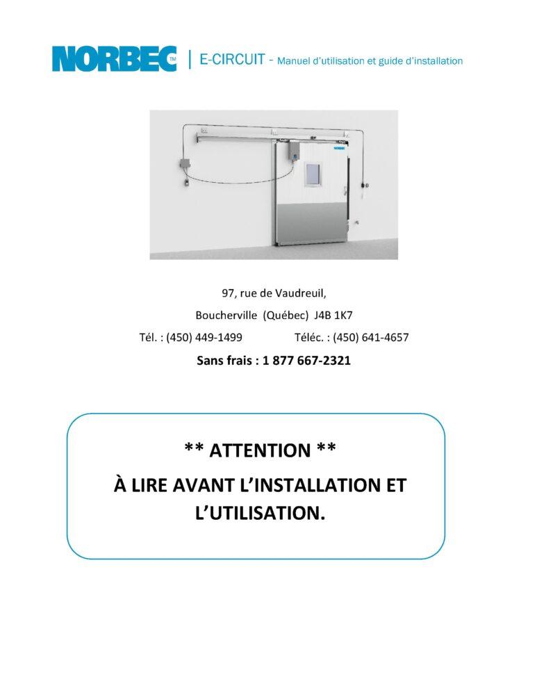 E-Circuit – Manuel d'utilisateur et installation