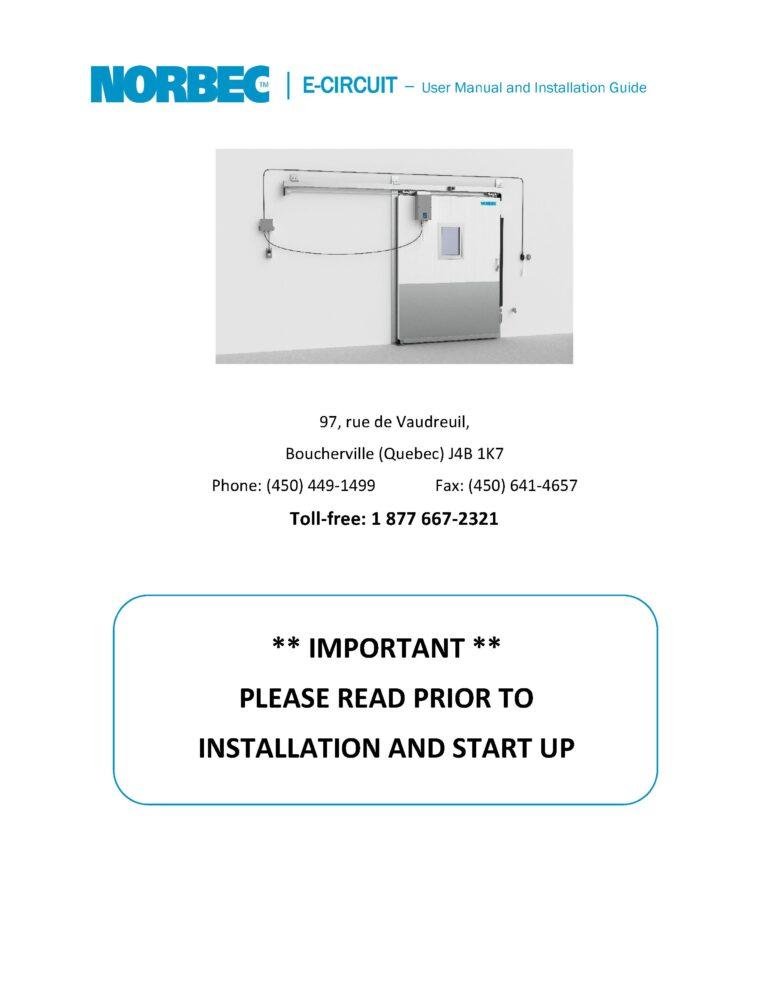 E-Circuit – User & Installation Guide